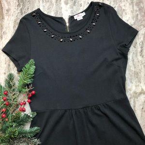 Vineyard Vines Ponte Knit Black Sheath Dress